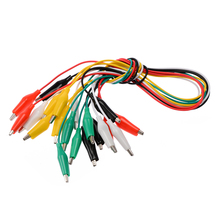 цена на 10pcs Medium Crocodile Clip Multi-color Alligator Clips Double-head Test Lead Crocodile Electrical Clamps 50cm