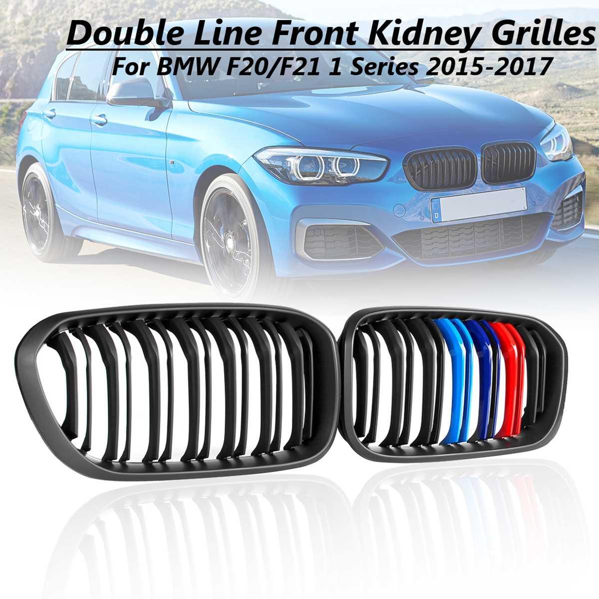 1 Series 2015 2016 2017 Kidney Grilles Matte Kidney Grilles for BMW F20 F21 Black M-Color Twin Bar Car Front Bumper Grille1 Series 2015 2016 2017 Kidney Grilles Matte Kidney Grilles for BMW F20 F21 Black M-Color Twin Bar Car Front Bumper Grille