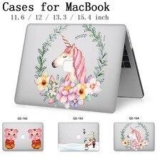 עבור מקרה נייד מחברת MacBook שרוול 13.3 15.4 אינץ עבור MacBook רשתית 11 12 עם מסך מגן מקלדת קוב