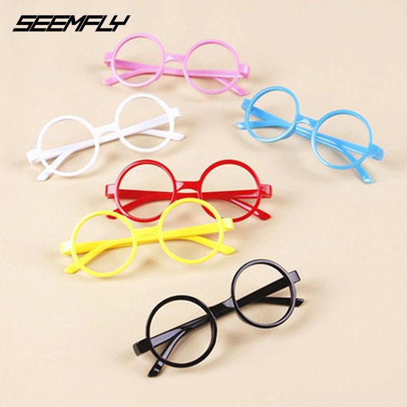 Seemfly Classic Cute Baby Round Glasses Frame Kids Children Solid Spectacles Boys Girls Eyewear Plain Retro Fashion Eyeglasses