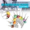 GEEETECH 10 unids/set 0,1-1,0mm sólido PCB de carburo broca de limpieza para extrusora RepRap 3D impresora accesorios parte