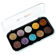 Miss Rose Eyeshadow Palettesequins Glitter Eye Shadow Plate Shiny Powder High Gloss (With Glitter)