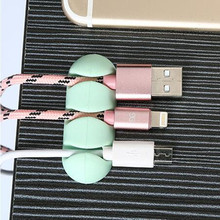 2018 ISHOWTIENDA2 Pcs Cable Winder Stick-on Wire Headphone Headset Wrap Cord Organizer Collector Silica HotTop
