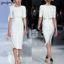 Элегантное свадебное платье для гостей ynqnfs m168 белое вечернее