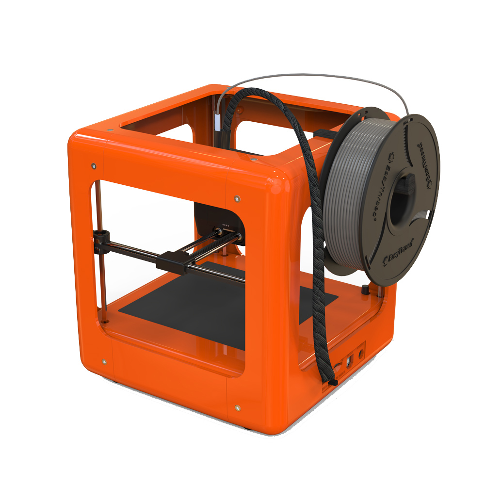 NEW Orange Mini Fully Assembled 3D Printer 90 110 110mm Printing Size Support One Key Printing