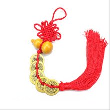 10 Pcs Chinese Knots Blessing Rich Lucky Fortune Copper Cash Arts and Crafts Gifts Curtain Hang Decorations Pendant 2018