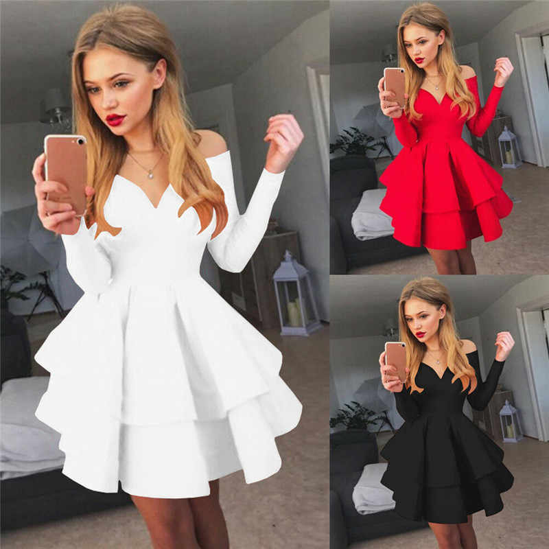 Women Bandage Bodycon Casual Long Sleeve Business Basic Cocktail Mini Dress