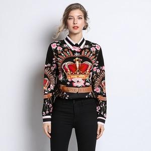 Image 4 - מסלול 2019 חדש באיכות גבוהה מעצב חולצות נשים חולצה בציר אופנה רטרו גבירותיי משרד חולצות נשים חולצות וחולצות הדפסה