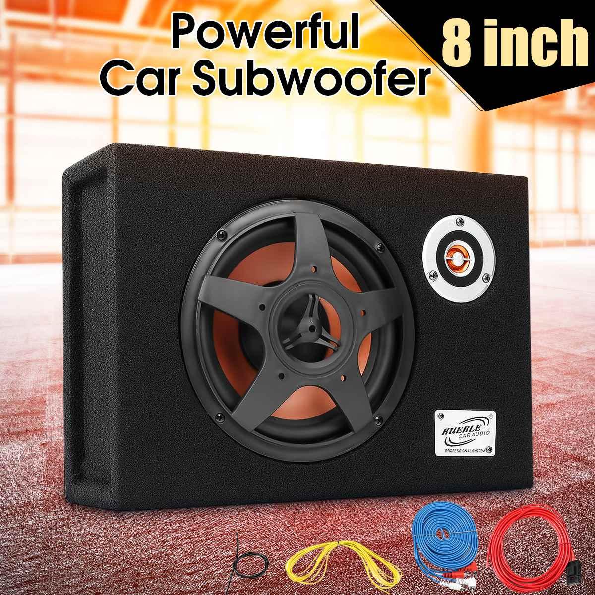 8 дюймов 480 Вт под сиденьем автомобильный сабвуфер модифицированный динамик стерео аудио бас-усилитель сабвуферы автомобиля аудио авто дин...