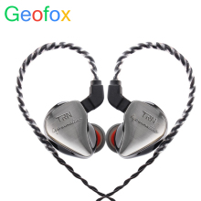 лучшая цена GeoFox 1BA+1DD Hybrid In Ear Earphone Monito Running Sport Earphone HIFI Headset Detachable Detach 2Pin Cable Earphone PK kz