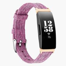 Bandas de reloj lisas correas clásicas de lona con conector de Metal reemplazan a las mujeres duraderas hombres pulsera resistente al desgaste Fitness Tracker