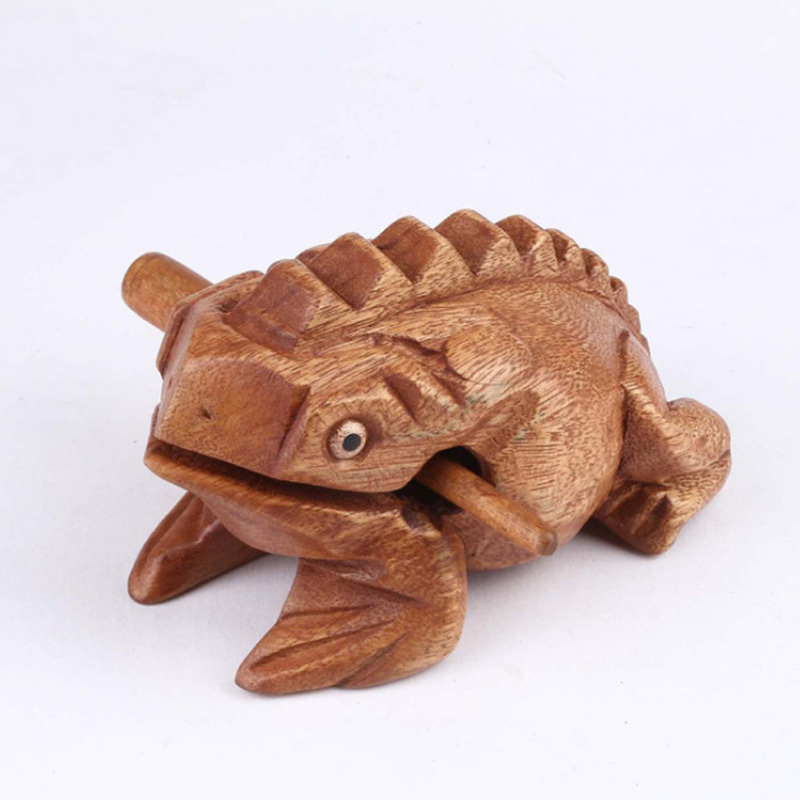 Thailand Mango Wood Voice Wood Carving Toads Frogs Decorations Hot Cakes Animal Models Family Decorations Painted Ornament