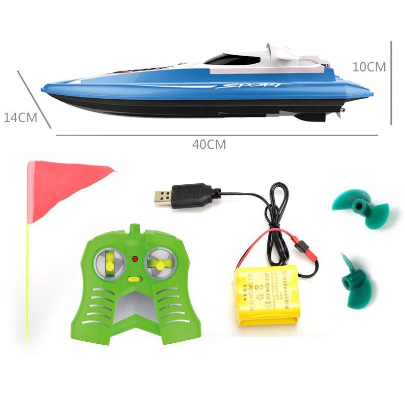 Haute vitesse RC bateau course hors-bord 12 KM/H 2.4G électrique télécommande bateau jouets pour enfants jouets enfants cadeau
