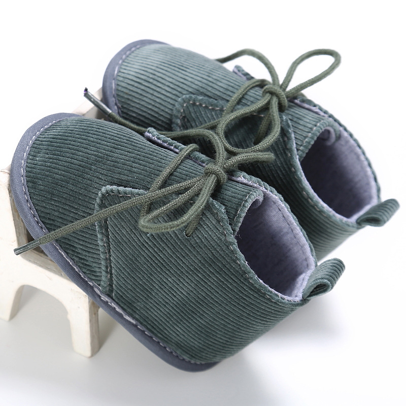 2019 Fashion Corduroy Baby Boys First Walkers Bebe Toddler Shoes Soft Bottom Baby First Step Shoes Gray Brown Color