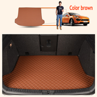 ZHAOYANHUA Custom fit Heightened side car Trunk mats for Skoda Rapid Rapid Spaceback Octavia RS