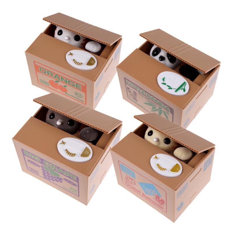 Katze Geld Bank Panda Dieb Geld Boxen Spielzeug Piggy Banken Geschenk Kinder Geld Boxen Automatische Stola Münze Piggy Geld Sparen box 2018