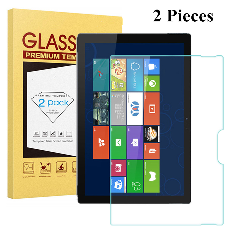 2 Pcs/Package For Microsoft Surface Pro 6 12.3'' (2018) Tempered Glass Screen Protector Cover for Surface Pro 4/Pro 5 Film Guard image