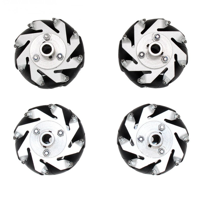 4Pcs set 60mm Aluminium Mecanum Wheels Set Universal Wheels with 4 6 8mm Motor Shaft Coupling