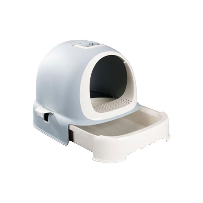 2019 Cat Litter Box Basin Drawer Style Pet Toilet Fully Enclosed Hygiene Deodorant Extra Large Pot Cat Supplies