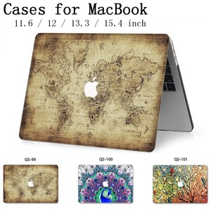 Image 1 - For Notebook MacBook Laptop Case New Sleeve For MacBook Air Pro Retina 11 12 13.3 15.4 Inch With Screen Protector Keyboard Cove