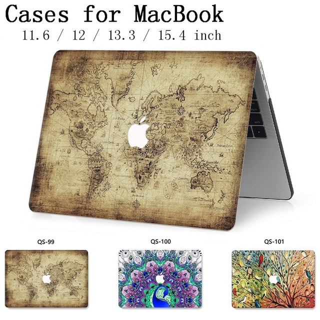 For Notebook MacBook Laptop Case New Sleeve For MacBook Air Pro Retina 11 12 13.3 15.4 Inch With Screen Protector Keyboard Cove