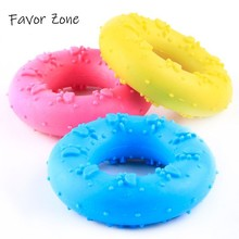 1PC Dog Puppy Interactive Toys New Rubber Chew Donut Circle Teething Training Cleaning Molar Toy Natural Non-toxic Supplies