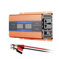 700W Pure Sine Wave Car Power Inverter USB DC 12V to AC 220V 1200W Peak Power with LCD Display
