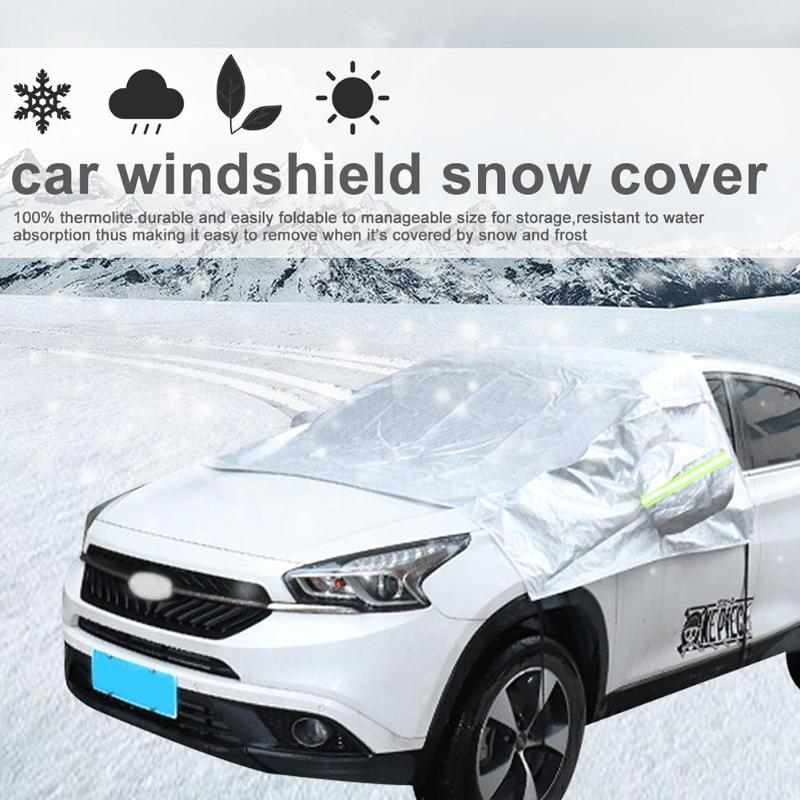 VODOOL Universal Car SUV Windshield Sunshade Cover Snow Ice Shield Blocked Front Window Windscreen Sun Shade Covers Protector Windshield Sunshades     - title=