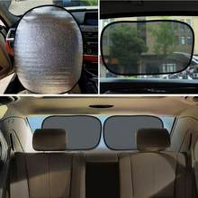 Summer Car Steering Wheel Side Window Shades Pearl Cotton Cover Sunscreen Insulation Electrostatic Mesh Side Sunshade Supplies(China)