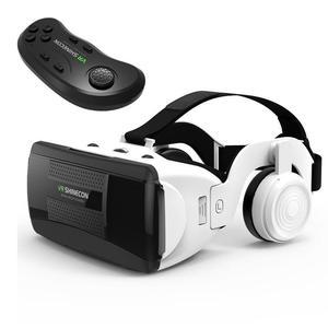 Image 1 - Gafas VR 3D de realidad Virtual con control remoto, miniauriculares VR, casco, gafas, estéreo Hifi, auriculares, consola de juegos con micrófono # Y2