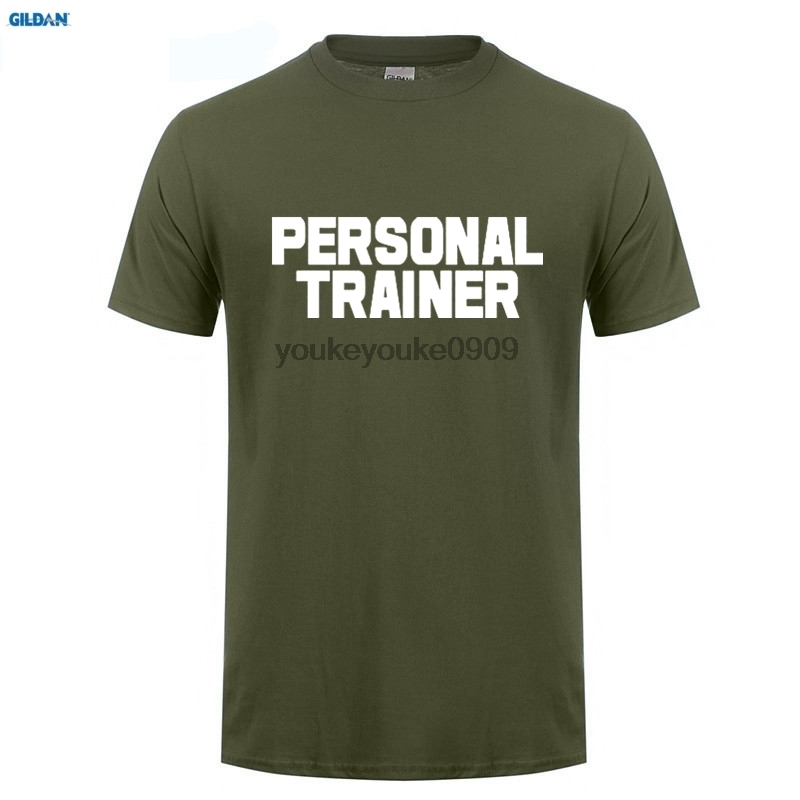 aa3395cc GILDAN Personal Trainer T-SHIRT Gymer rkout Instructor Traininger Funny  Birthday Gift Base Shirt Newest