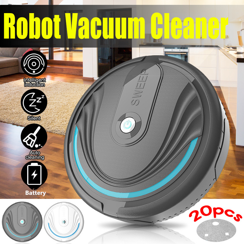 Rechargeable Floor Sweeping Robot Dust Catcher Intelligent Auto-Induction Floor Sweeping Robot Vacuum Cleaner Battery/USB Charge