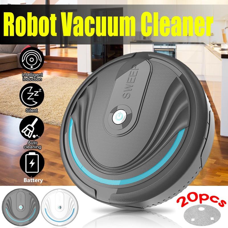 Rechargeable Floor Sweeping Robot Dust Catcher Intelligent Auto-Induction Floor Sweeping Robot Vacuum Cleaner Battery/USB Charge