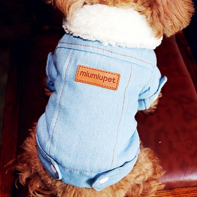 Luxury Winter Denim Dog Jacket