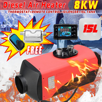LCD Diesel Air Heater Silencer 12V 8KW 15L Tank Planar Car Trucks Boat Motorhome Parking With Remote Control LCD Monitor for RV
