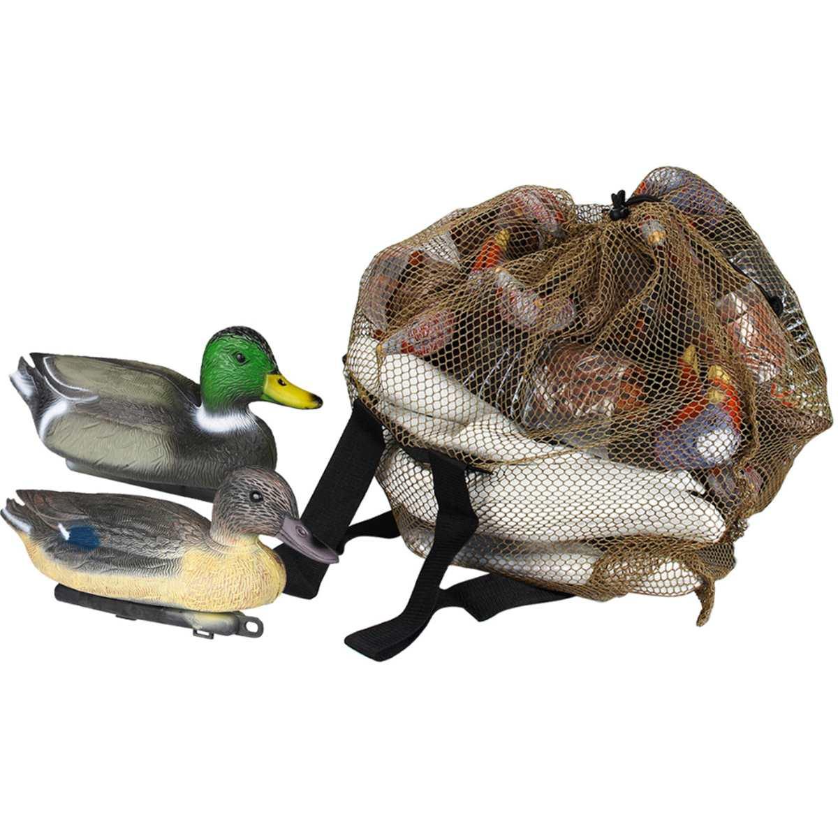 Creative Duck Decoys Bag With Shoulder Straps Mesh Backpack Decoy Bag Goose Turkey Carry Large Decoy Storage Net Bag For Hunting