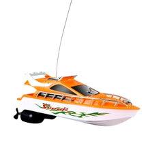 Гоночная Лодка на дистанционном управлении лодка Rc многоцветный скоростной катер р/у гоночная игрушка скоростная лодка игра на открытом воздухе электрическая лодка электрические игрушки с дистанционным управлением