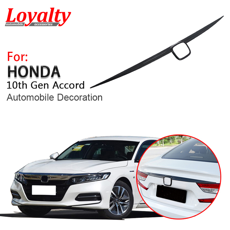 Carbon Fiber Look Front Hood Lid Bonnet Cover Trim 3pcs for Honda Accord 2018-19