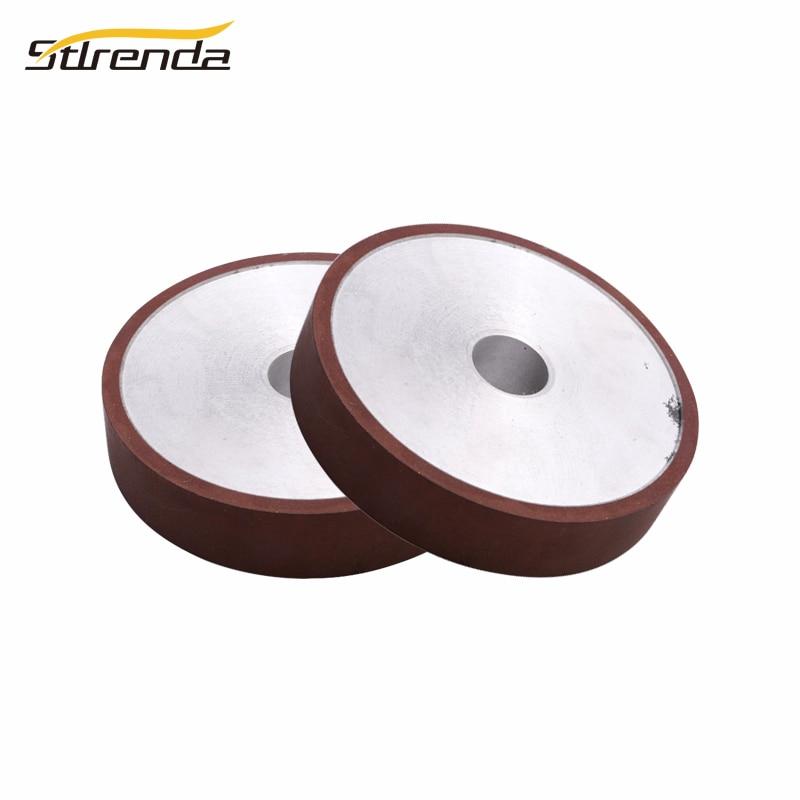 STLRENDA 150/200mm résine diamant meule plaine 120-320 traitement des grains pour carbure métal pierre polissage trou 12.7/32mm
