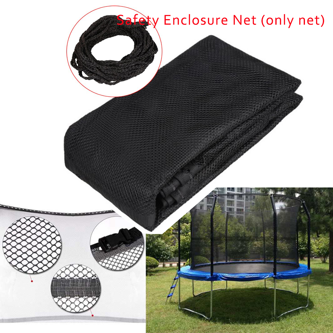 14Feet 8 Pole Outdoor Replacement Trampoline Bounce Safety Enclosure Net for Round Frame Trampoline