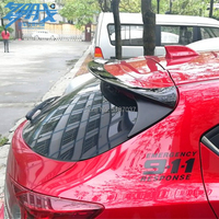 for Mazda 3 Axela Hatchback 2014 2015 2016 2017 ABS Plastic Unpainted Rear Roof Spoiler Wing Trunk Lip Boot Cover Car Styling