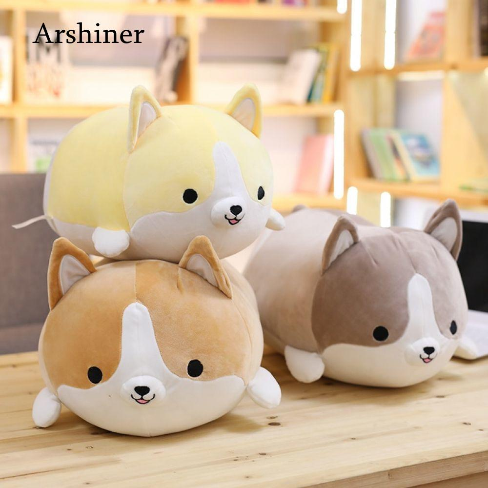 Cute Corgi Dog Plush Toy Stuffed Soft Animal Cartoon Pillow Lovely Christmas Gift for Kids Kawaii Valentine Present 30/45/60cm 60cm lovely angel pig plush toy stuffed soft animal doll baby kawaii pig pillow best christmas gift for kids