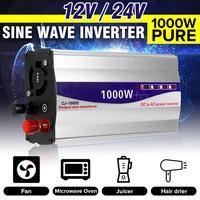 Inverter 12V/ 24V To 220V Pure Sine Wave Inverter Converter Transformer Peaks Power 1000W for Car Household Appliances