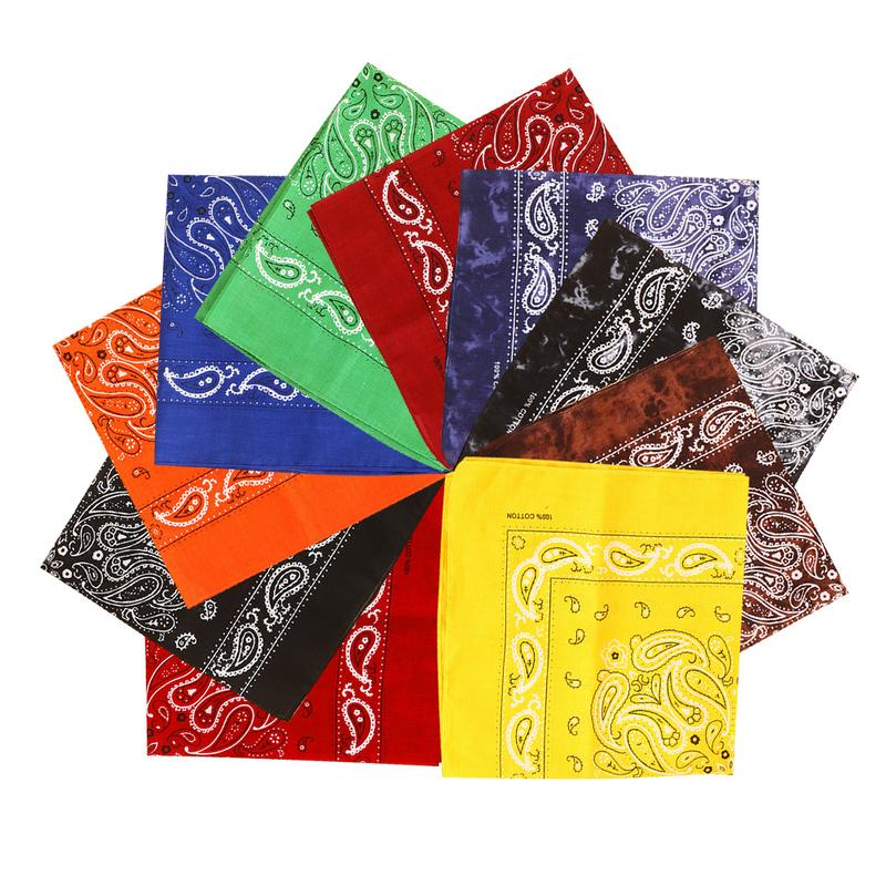 Head-Scarf Bandanas Square Paisley Print Large Sports Pure-Cotton For Boys/girls Muje