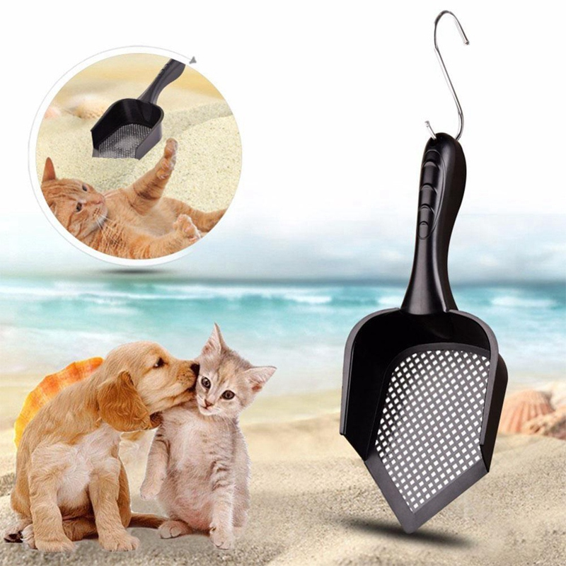 Indoor Portable Durable Plastic Practical Cleaning Cat Pet Litter Scoop With Shovel in Litter Housebreaking from Home Garden