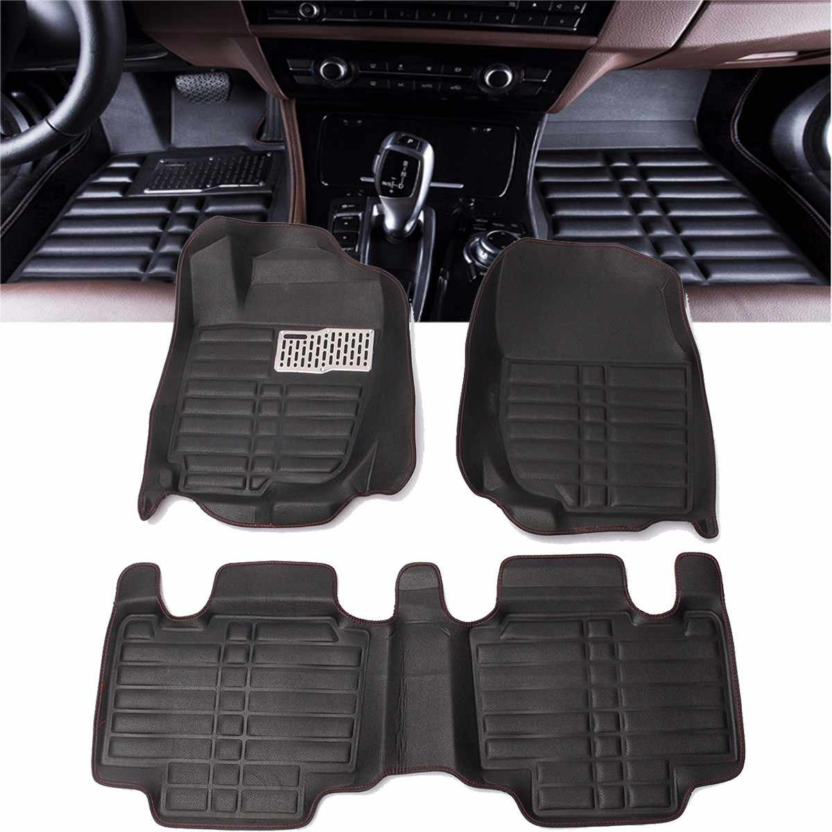 Audew Floor Foot Pad Front + Rear Liner Waterproof Mat For TOYOTA RAV4 2013 2014 2015 2016 Car Styling Carpet Floor Liner