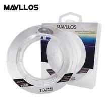 Mavllos 50m 100m 100% Monofilament Fluorocarbon Fishing Line Leader Carbon Fiber Sink Invisible