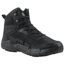 Сверхлегкая Водонепроницаемая тренировочная обувь для мужчин и женщин, армейский вентилятор, для активного отдыха, походов, спорта, скалолазания, Нескользящие дышащие пустынные тактические ботинки