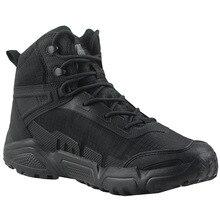 Zapatos de entrenamiento ultraligeros impermeables para hombre y mujer, botas tácticas transpirables para el desierto, para deportes al aire libre de senderismo, escalada, antideslizantes