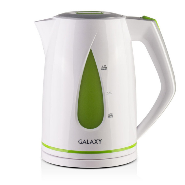 Чайник электрический Galaxy GL 0201 зеленый (Мощность 2200 Вт, объем 1.7 л, подсветка, вращение 360°)